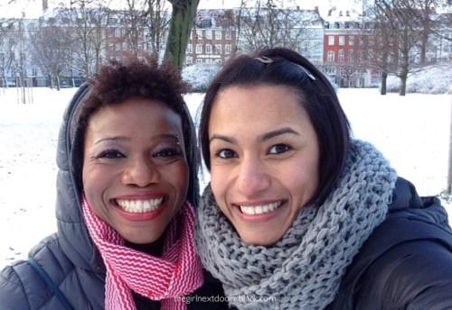 Friends in snow Kongsten Have Copenhagen