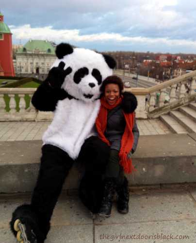 Giant Panda in Warsaw Old Town | The Girl Next Door is Black