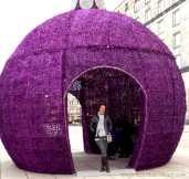 Purple Orb Light Warsaw Old Town   The Girl Next Door is Black