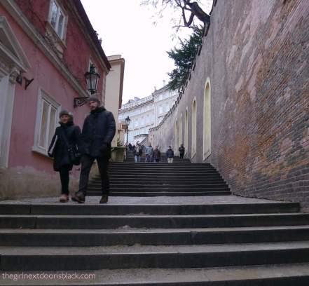 Steps to Prague Castle | The Girl Next Door is Black