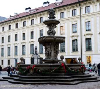 Prague Castle Fountain | The Girl Next Door is Black