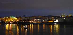 Night View from Charles Bridge Prague   The Girl Next Door is Black
