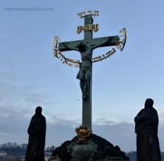 Statue of The Crucifix and Calvary Charles Bridge   The Girl Next Door is Black