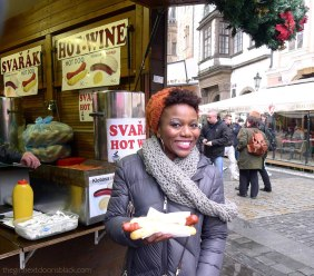Eating a Kielbasa in Prague | The Girl Next Door is Black