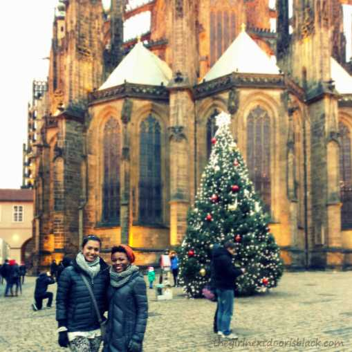Friends at Prague Castle | The Girl Next Door is Black