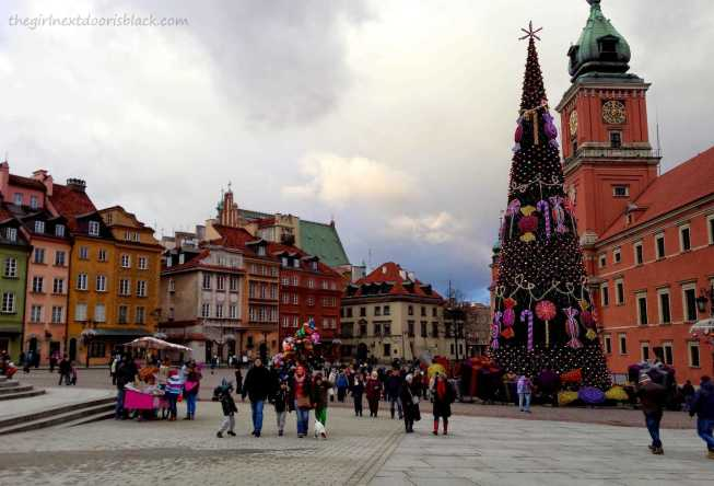 Royal Castle Old Town Market Place Warsaw Poland   The Girl Next Door is Black