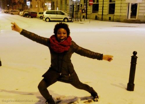 Dancing in Warsaw Snow | The Girl Next Door is Black
