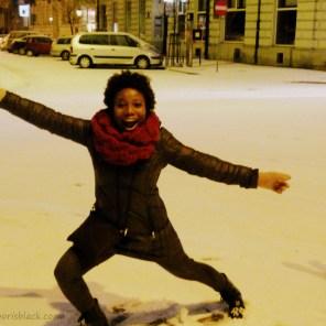 Dancing in Warsaw Snow   The Girl Next Door is Black