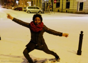 Dancing in Warsaw Snow | The Girl Next Door is Black