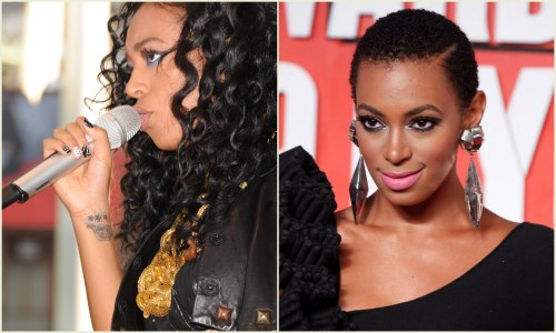 Solange Knowles Before and After Big Chop