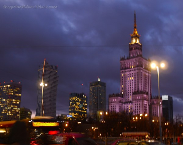 Things to do, see and eat with 4 days in historic Warsaw, Poland. See more on The Girl Next Door is Black| Palace of Culture and Science at Night Warsaw