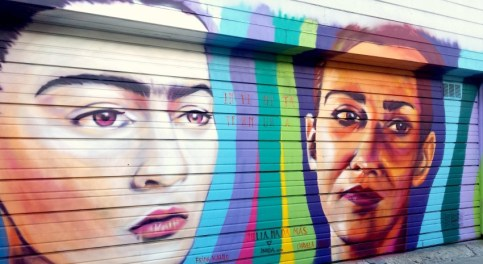 Frida Kahlo-Julia Mural in the Mission, San Francisco, CA