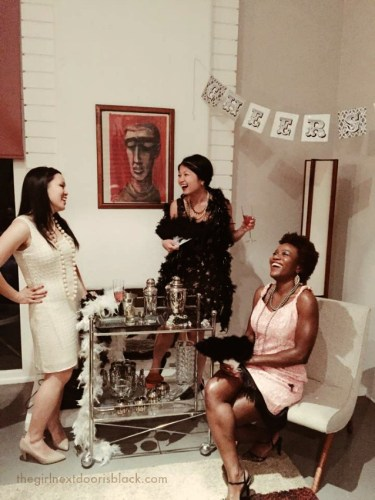 """From poolside underneath palm trees in the bright California sun, to fine dining at an award-winning restaurant, to a snowy nature to walk: Inside a fun-filled """"roaring 20s"""" themed bachelorette weekend in Palm Springs - read more on The Girl Next Door is Black"""