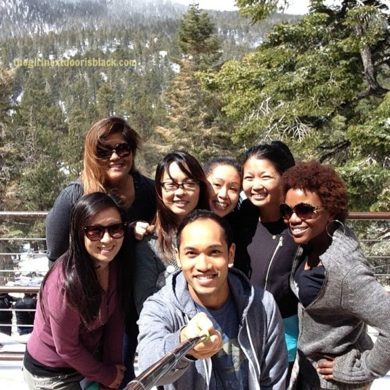 """From poolside underneath palm trees in the bright California sun, to fine dining at an award-winning restaurant, to a snowy nature to walk: Inside a fun-filled """"roaring 20s"""" themed bachelorette weekend in Palm Springs, read more in """"Bachelorette Weekend in Palm Springs """" on The Girl Next Door is Black"""