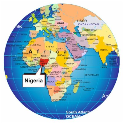 "Nigeria on map of the world from ""My Blackness is Enough"" on The Girl Next Door is Black"