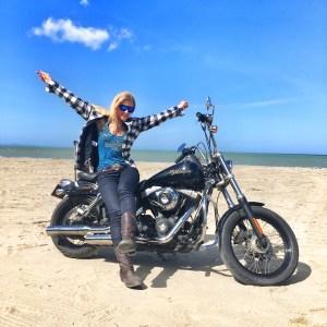 The girl on a bike dominican republic dominican riders harley davidson beach 2