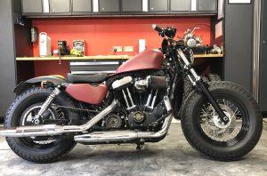 Harley-Davidson Sportster cam case customisation chopped