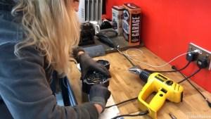 Harley-Davidson Sportster cam case customisation grease the gasket for optimum seal