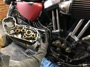 Harley-Davidson Sportster cam case removal