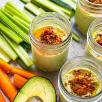 Avocado Hummus Snack Jars