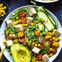 Summer Buddha Bowls with Turmeric Chickpeas