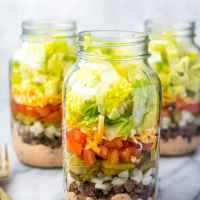 Meal Prep Low Carb Big Mac Salad Jars