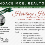 The Heritage Hunt Community Open House 2017 - Candace Moe Realtor can answer any questions you have!