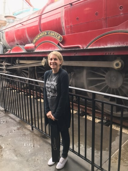She caught the Hogwarts train going anywhere