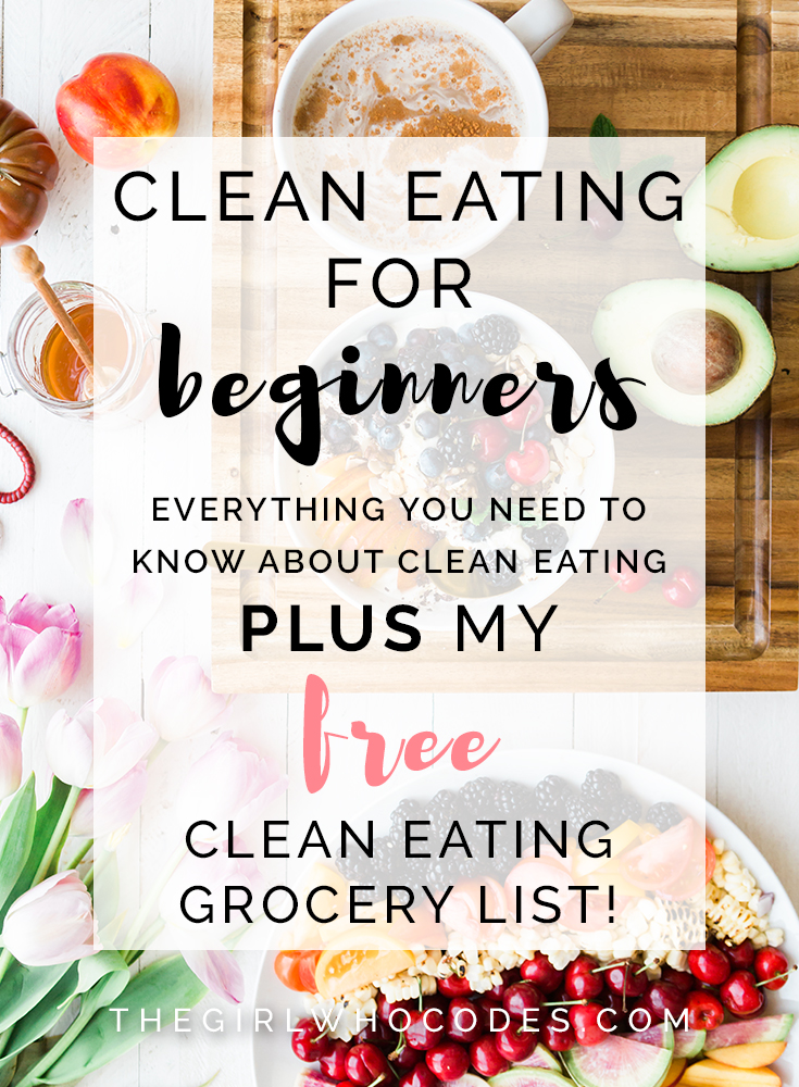 image about Printable Clean Eating Grocery List named Fresh new Ingesting For Novices - The Lady Who Codes