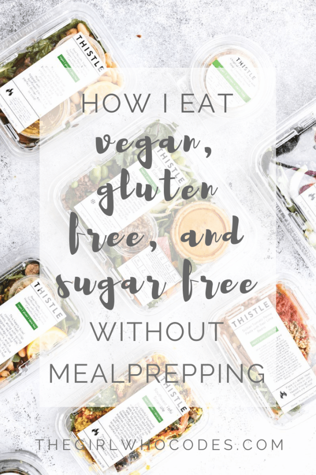 How I eat Vegan, Gluten Free, and Sugar Free with a busy schedule without meal prepping