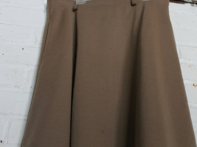 Camel Colored A-Line Skirt - The Girl Who Does Everything