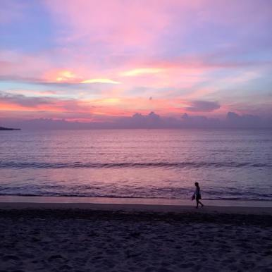 Jimbaran Beach at sunset