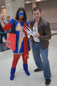 Kamala Khan and her fave, Wolverine!