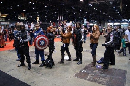 Captain America: The Winter Soldier cosplayers multiplied!