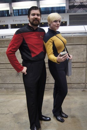 Commander Riker and Lt. Tasha Yar