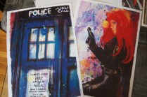 The Tardis and Black Widow Art by Jason Oakes. http://www.j2artist.com/