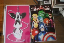 SpiderGwen and Avengers: Age of Ultron art prints. So happy when they ACTUALLY include Black Widow. Still trying to find out who the artist is. I forgot to grab a business card. If you happen to know, please leave their name in the comments!