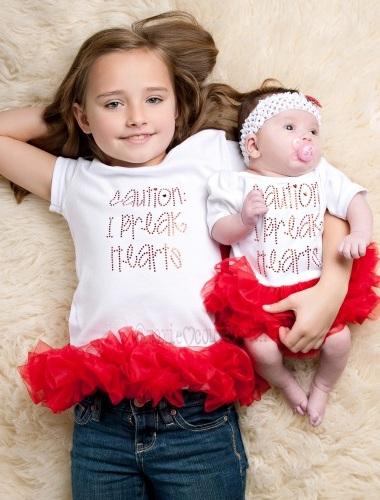 Valentine Sequin Heart Personalized Chevron Shirt