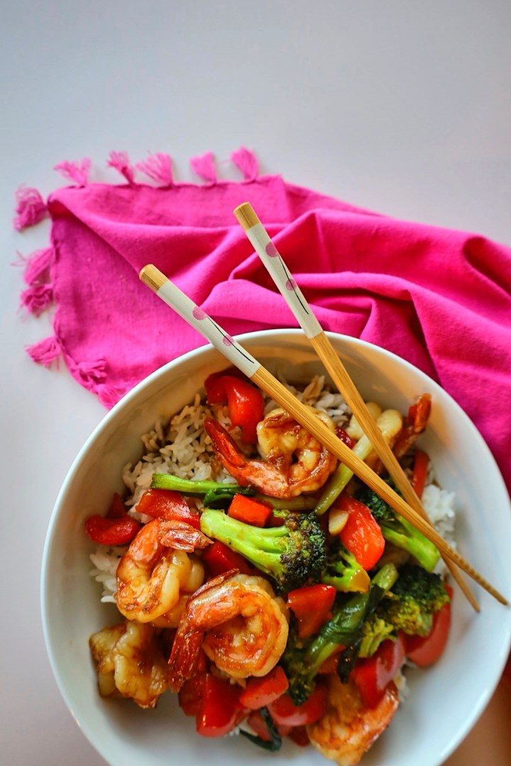 Honey Hoisin Shrimp Stir-fry