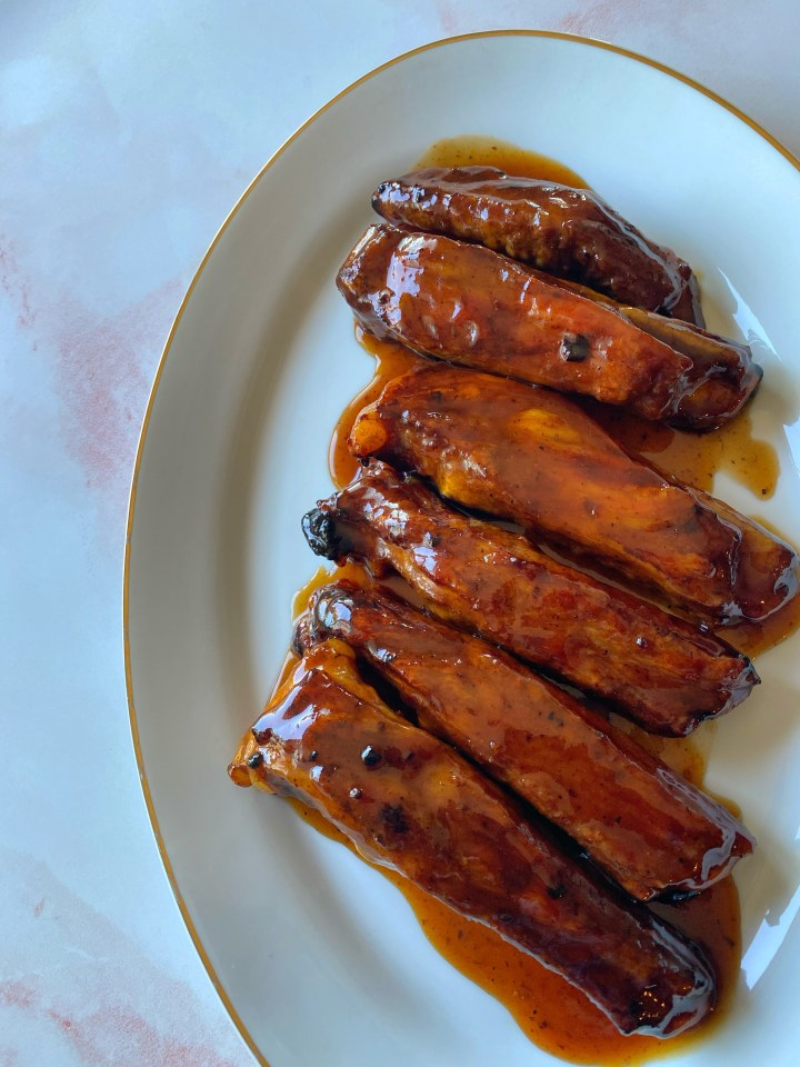 Air Fryer Honey BBQ Ribs