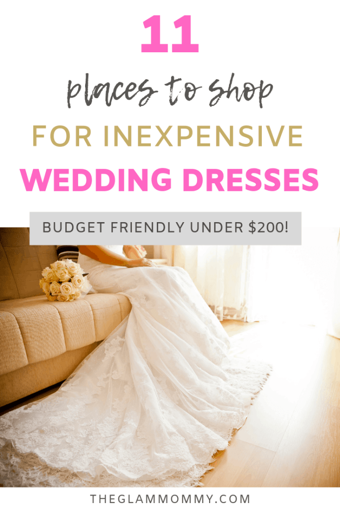 inexpensive wedding dresses where to shop