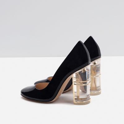 Zara, tacco particolare e spesso, per essere comode - 69,95 €