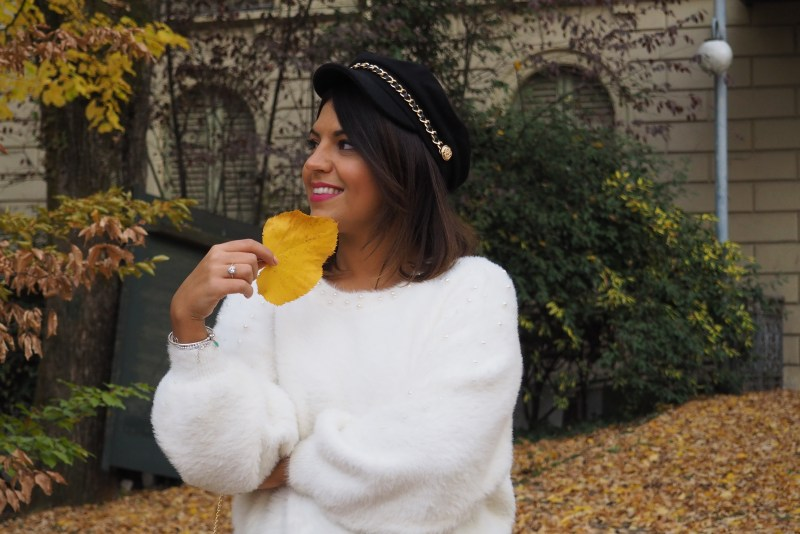 maglione bianco morbido zara