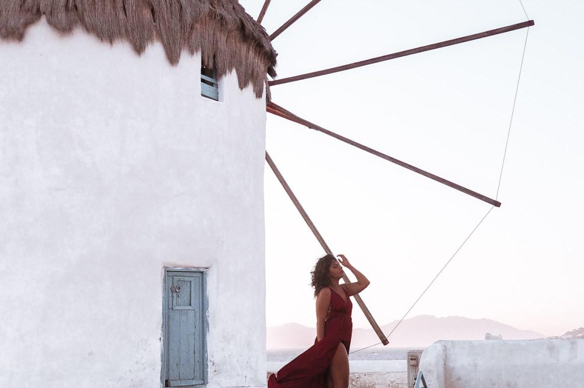 belle foto instagrammabili mykonos mulini