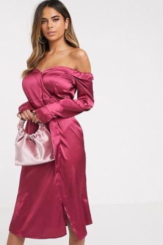 abito matrimonio in inverno rosa
