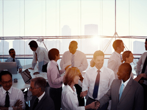 Group of Multiethnic Diverse Busy Business People