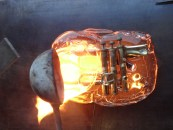 16-trumpet-in-hot-glass