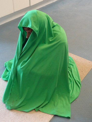how much material for the 'figure in a blanket'
