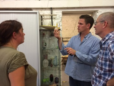 Helga, Luke and Neil Wilkin discuss the 'sand in a bottle' experiment