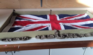 flag boxed in